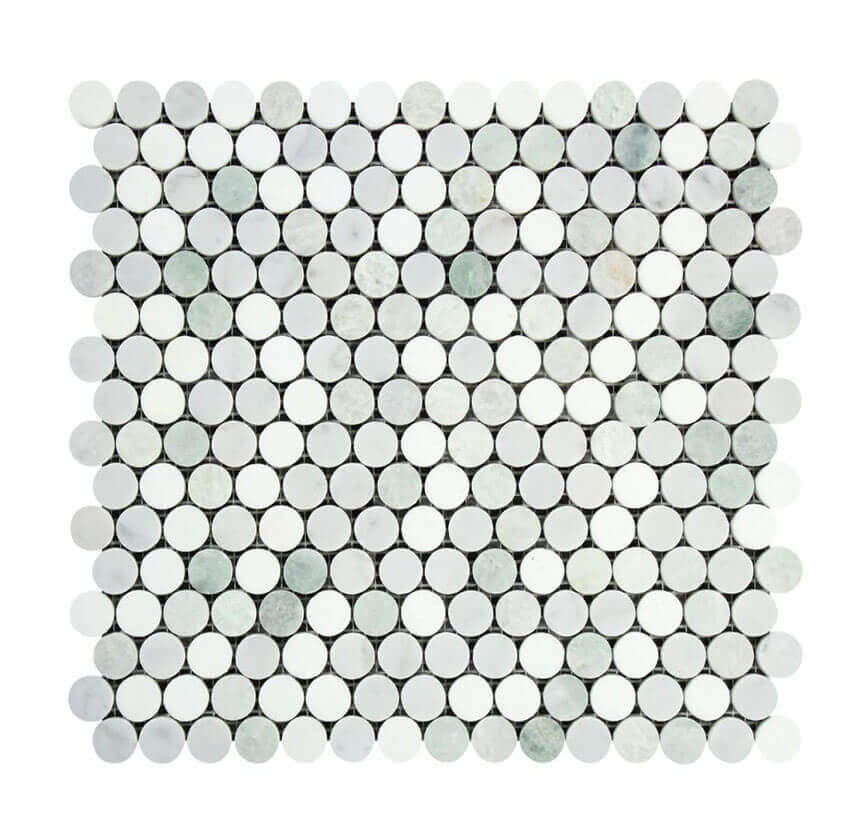 marble penny round tile, green marble, green marble tile, green marble tiles, marble mosaics tiles, marble tiles, marble tiles bathroom, marble tile floor, marble tile mosaic, marble tiles sydney, mosaic marble tile
