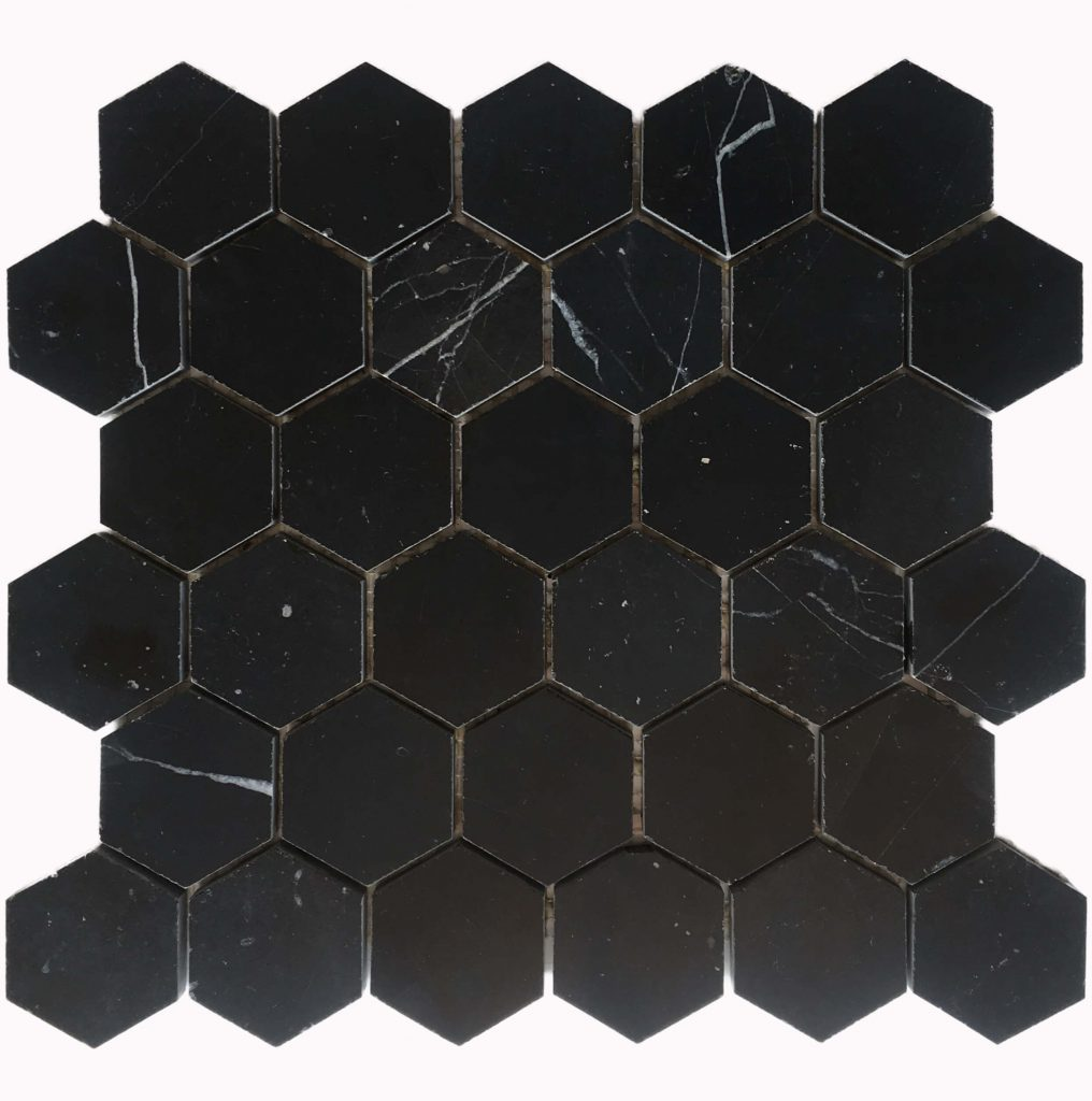 nero marquina, black marble tile, hexagon tile, natural stone tile, marble tiles, bathroom with marble tiles, marble tiles floor, marble tiles for bathroom, marble tiles mosaic
