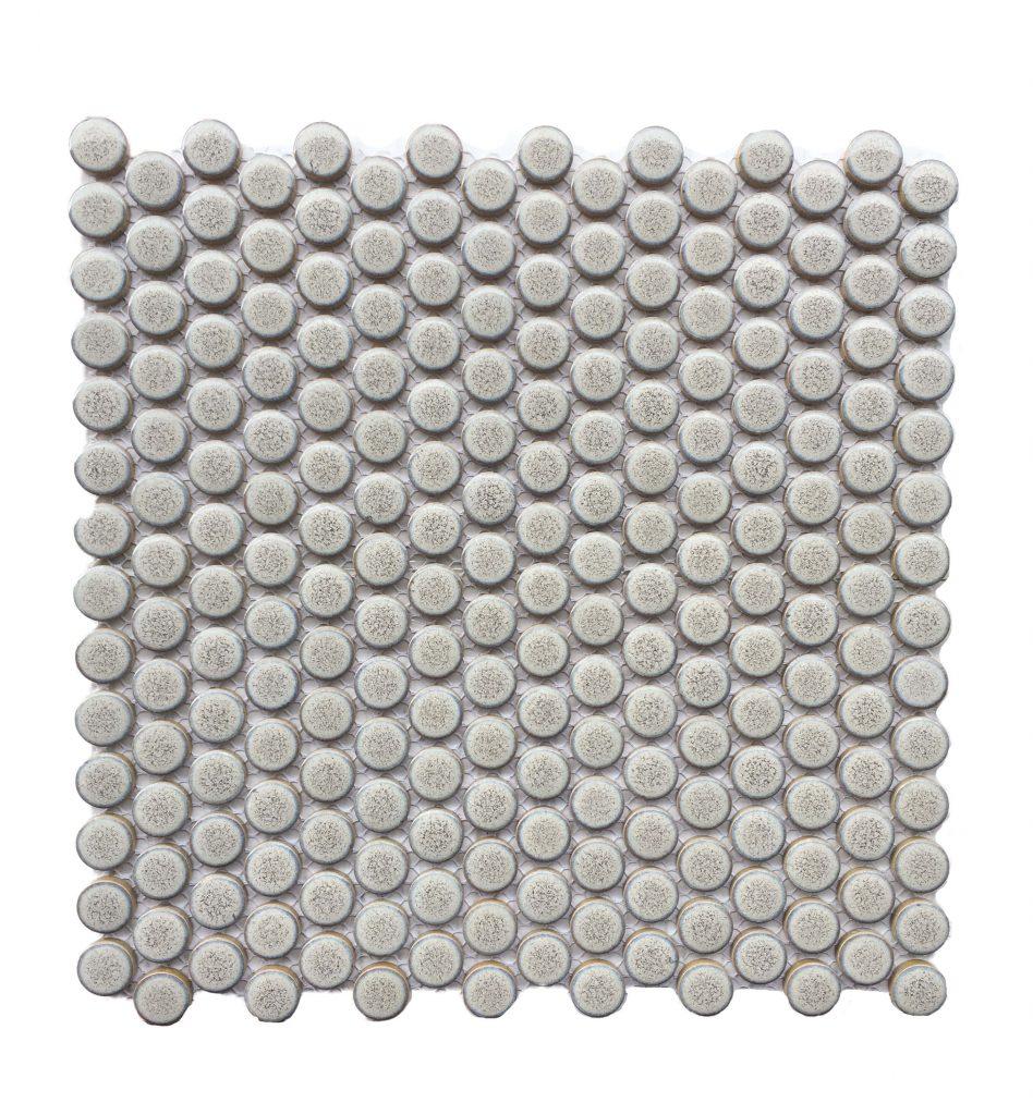 penny round tiles, circle tiles, pennyround tiles, splashback tiles, grey splashback tiles, splashback tiles kitchen