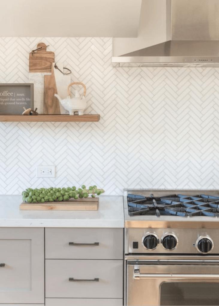 herringbone tiles, herringbone mosaics, herringbone mosaic tiles, splashback tiles, white splashback tiles, splashback tiles kitchen